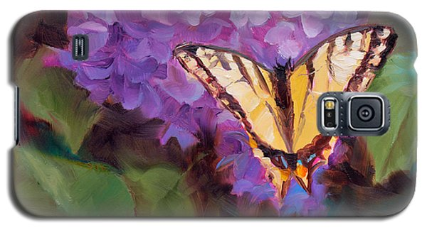 Lilacs And Swallowtail Butterfly Galaxy S5 Case