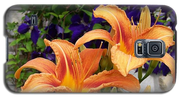 Lilies And Clematis Galaxy S5 Case