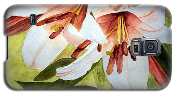 Lilies In The Garden Galaxy S5 Case by Carol Grimes
