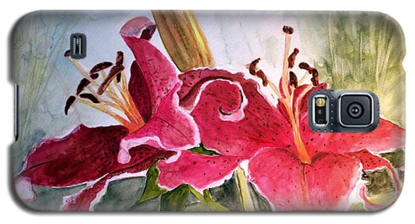 Lilies Turned Tiger Galaxy S5 Case by Carol Grimes