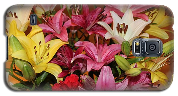 Galaxy S5 Case featuring the photograph Lilies by John Mathews