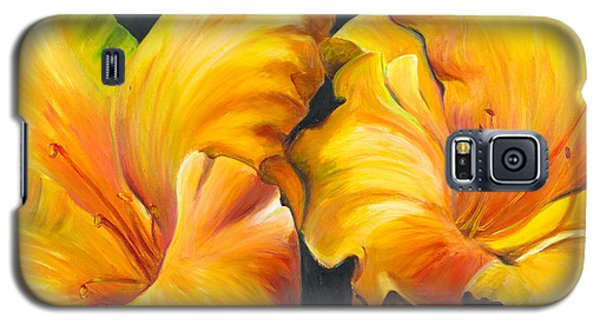 Lillies Galaxy S5 Case by Sheri  Chakamian
