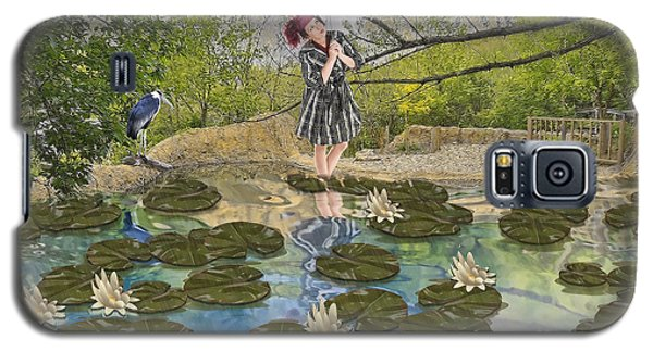 Galaxy S5 Case featuring the digital art Lilly Pad Lane by Liane Wright