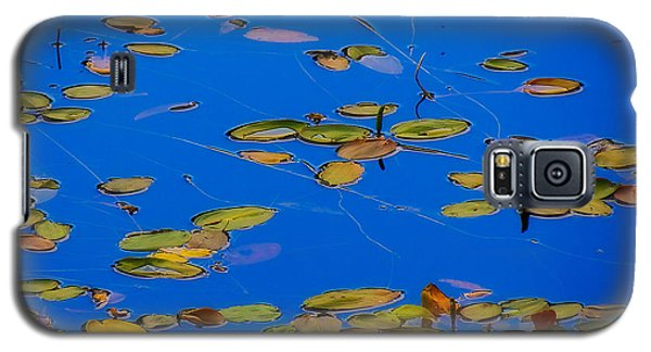 Galaxy S5 Case featuring the tapestry - textile Lilly Pads by Dennis Bucklin