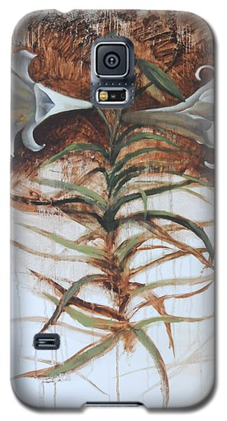 Galaxy S5 Case featuring the painting Lily by Alla Parsons
