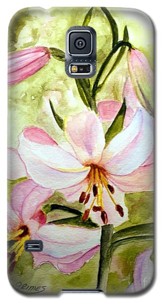 Lily In Pink Galaxy S5 Case by Carol Grimes