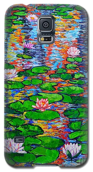 Lily Pond Colorful Reflections Galaxy S5 Case