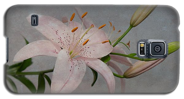 Pink Lily With Texture Galaxy S5 Case