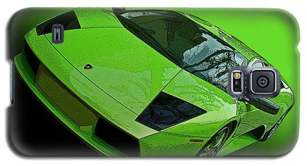 Lime Green Lamborghini Murcielago Galaxy S5 Case by Samuel Sheats