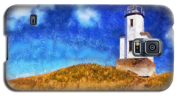 Galaxy S5 Case featuring the digital art Lime Kiln Lighthouse by Kaylee Mason
