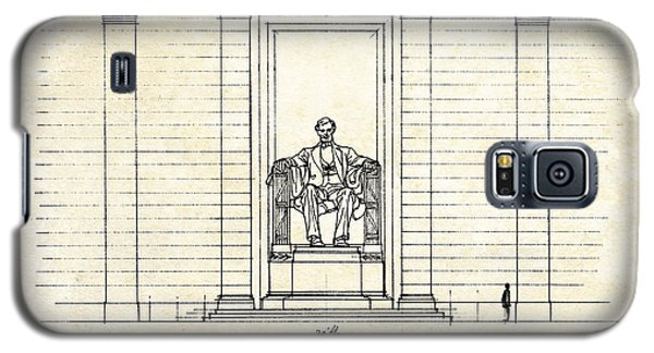 Lincoln Memorial Sketch Galaxy S5 Case by Gary Bodnar
