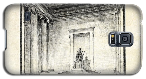 Lincoln Memorial Sketch IIi Galaxy S5 Case by Gary Bodnar