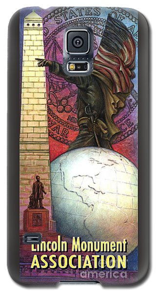Lincoln Monuments Street Banners Civil War Flag Bearer Galaxy S5 Case