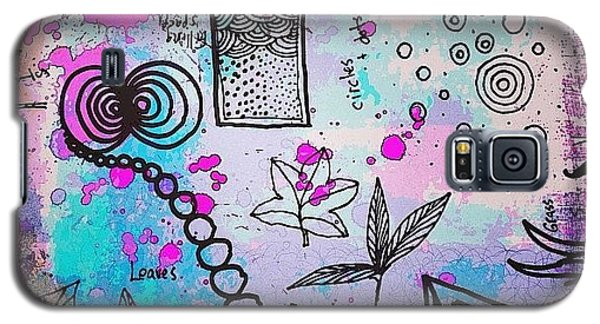 #line #color #shape #design #doodles Galaxy S5 Case by Robin Mead