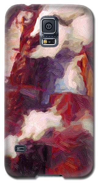Galaxy S5 Case featuring the digital art Line Up by Chuck Mountain