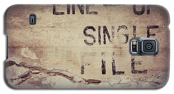 Line Up Single File Galaxy S5 Case