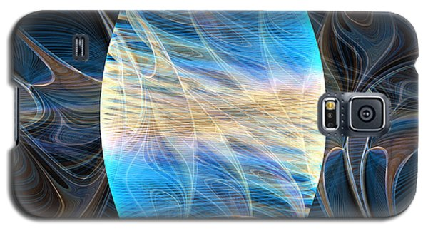 Galaxy S5 Case featuring the digital art Lingam Stone by Lea Wiggins