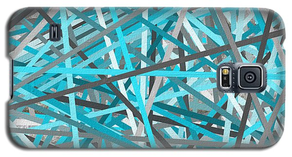 Link - Turquoise And Gray Abstract Galaxy S5 Case by Lourry Legarde