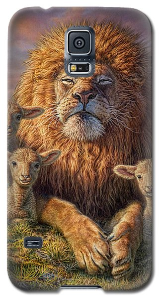 Lion Galaxy S5 Case - Lion And Lambs by Phil Jaeger