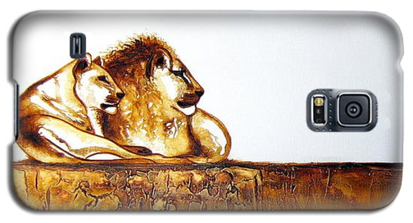 Lion And Lioness - Original Artwork Galaxy S5 Case