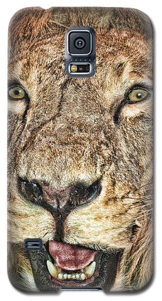 Galaxy S5 Case featuring the photograph Lion by Angel Jesus De la Fuente