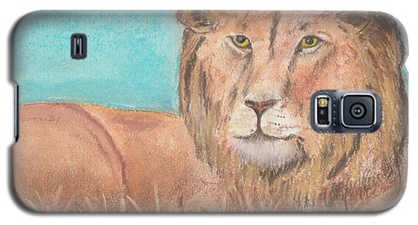 Galaxy S5 Case featuring the pastel Lion by David Jackson