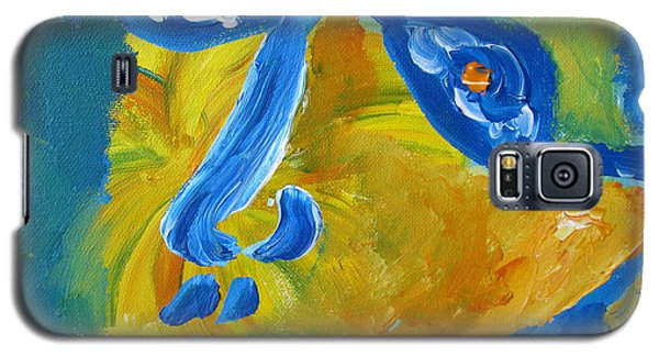 Galaxy S5 Case featuring the painting Lion Eyes  by Shea Holliman
