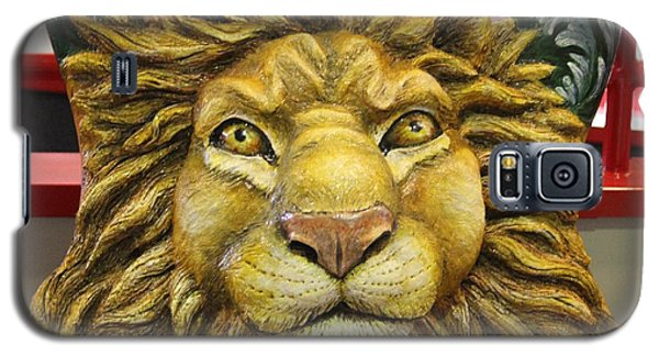 Galaxy S5 Case featuring the photograph Lion Face Guitar by Cynthia Snyder