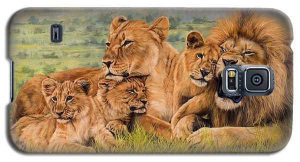 Lion Family Galaxy S5 Case by David Stribbling