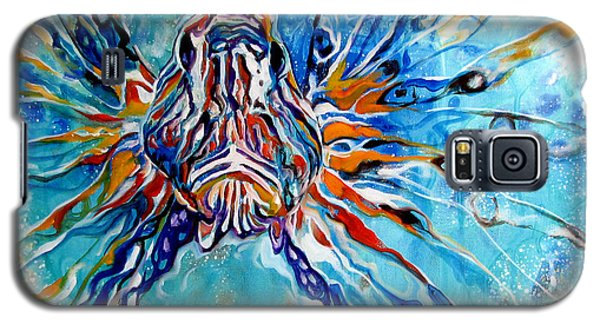 Lion Fish Blue Galaxy S5 Case
