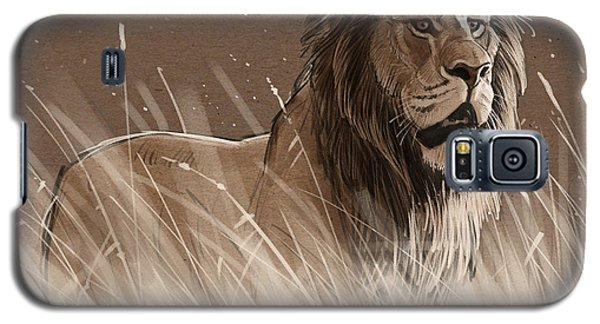 Lion In The Grass Galaxy S5 Case by Aaron Blaise