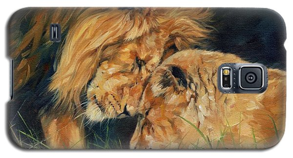 Lion  Love Galaxy S5 Case by David Stribbling