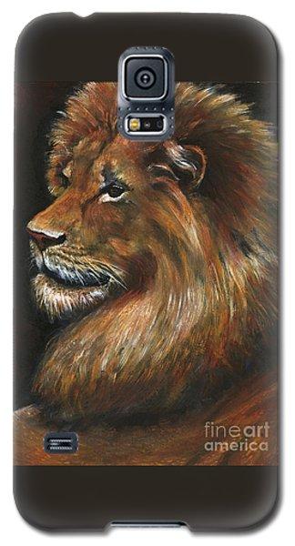 Lion Portrait Galaxy S5 Case by Alga Washington