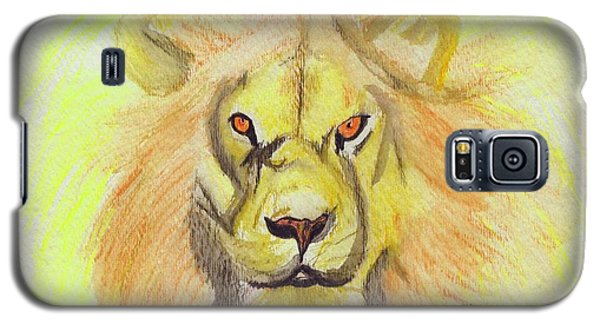 Lion Yellow Galaxy S5 Case by First Star Art