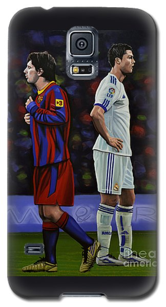 Lionel Messi And Cristiano Ronaldo Galaxy S5 Case