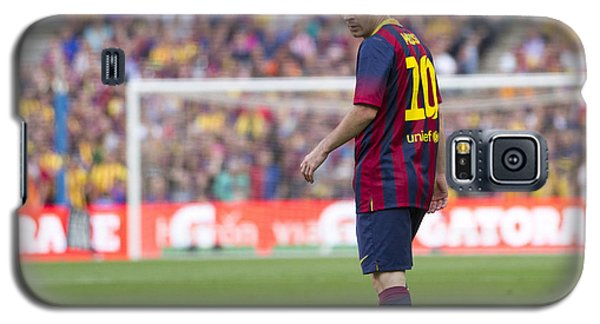 Galaxy S5 Case featuring the photograph Lionel Messi by Nathan Rupert