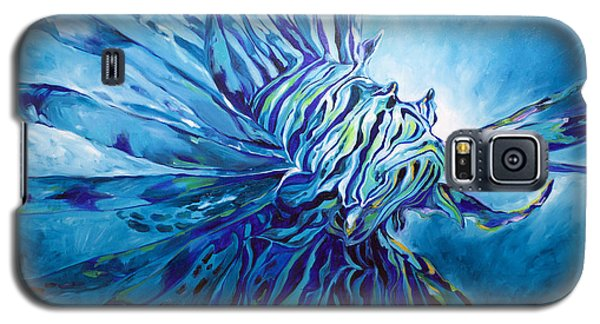 Lionfish Abstract Blue Galaxy S5 Case