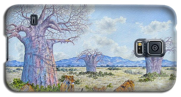 Lions By The Baobab Galaxy S5 Case