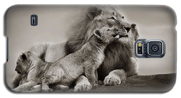 Galaxy S5 Case featuring the photograph Lions In Freedom by Christine Sponchia