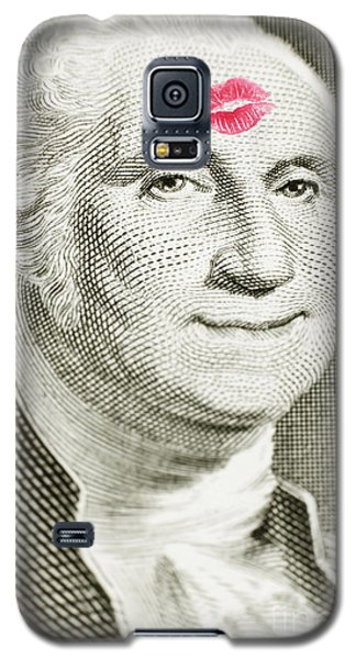 Lipstick Kiss On One Dollar Bill Galaxy S5 Case