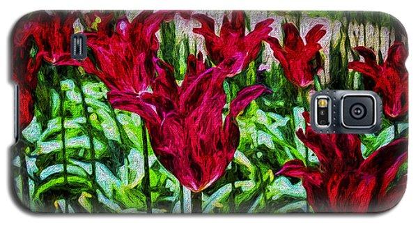Lipstick Tulips Galaxy S5 Case