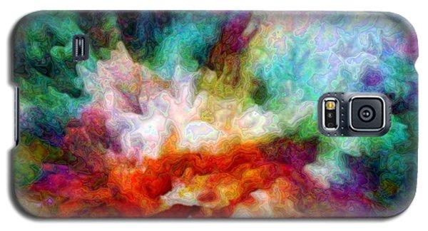 Galaxy S5 Case featuring the digital art Liquid Colors - Enamel Edition by Lilia D