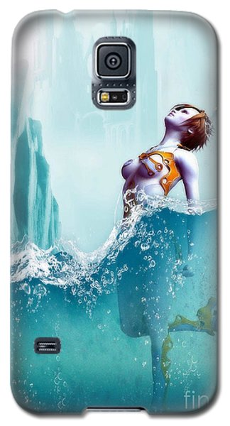 Galaxy S5 Case featuring the digital art Liquid Fantasy by Sandra Bauser Digital Art