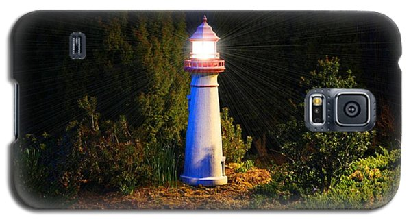 Lit-up Lighthouse Galaxy S5 Case by Kathryn Meyer