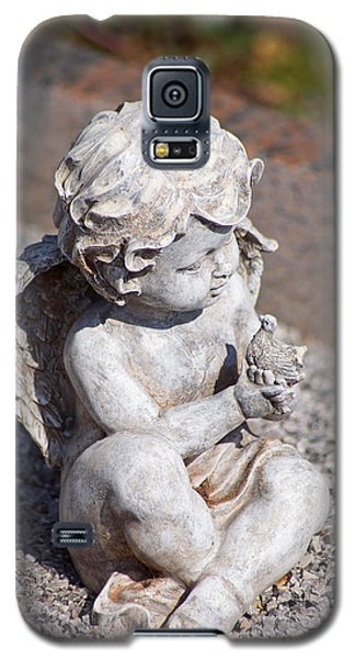 Little Angel With Bird In His Hand - Sculpture Galaxy S5 Case