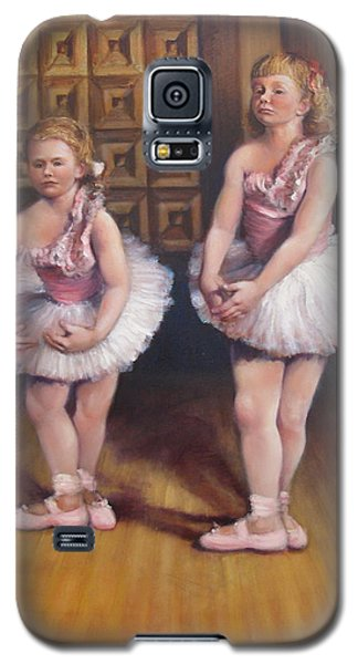 Galaxy S5 Case featuring the painting Little Ballerinas  by Donelli  DiMaria