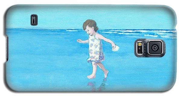 Little Beach Girl Panorama Galaxy S5 Case