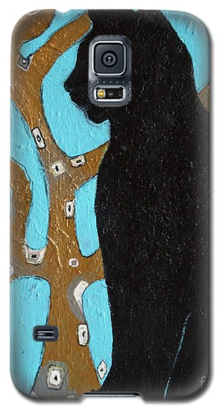 Galaxy S5 Case featuring the painting Little Binky by Alison Caltrider