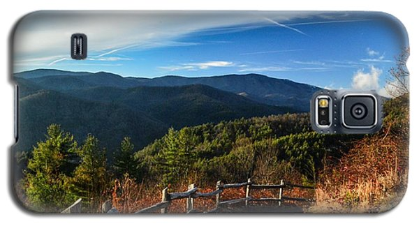 Galaxy S5 Case featuring the photograph Little Cataloochee Overlook In Summer by Debbie Green