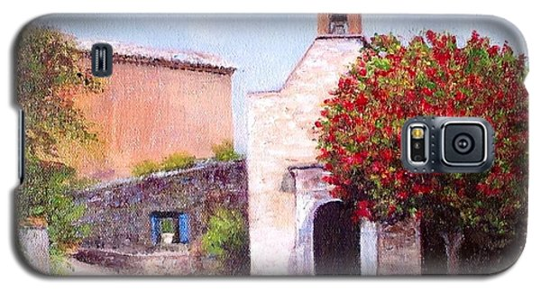 Galaxy S5 Case featuring the painting Little Chapel France by Cindy Plutnicki
